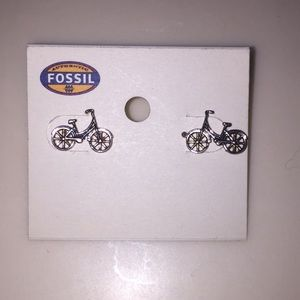 Fossil Bicycle Earrings